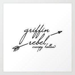 Griffin Rebel Art Print