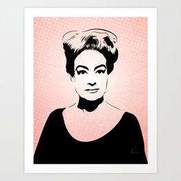 Joan Crawford - Hollywood Royalty - Pop Art Art Print