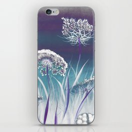 Wild Carrot - blue iPhone Skin
