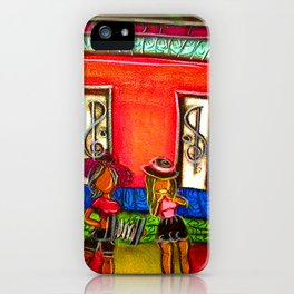 Heart Girl Zydeco Band iPhone Case