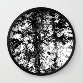 Abstract Tree Wall Clock