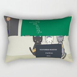 Panther Scouts #1 Cover Rectangular Pillow