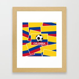 Colombia Football Framed Art Print