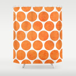 orange polka dots Shower Curtain