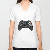 video game V-neck T-shirts featuring Video Game by Thomas Official