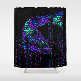 FISH ABSTRACT MOSAIC Shower Curtain