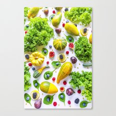 Fruits and vegetables pattern Canvas Print