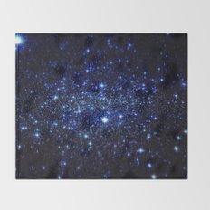 Dark Blue Stars Throw Blanket