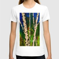birch T-shirts featuring Blue Birch by BeachStudio