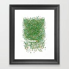 Keep the wood Framed Art Print