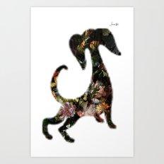 Dog II Jacob's 1968 fashion Paris Art Print