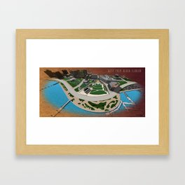 West Palm Beach Waterfront & City Commons Framed Art Print