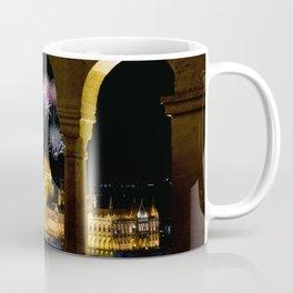 Hungarian Parliament with fireworks, Coffee Mug