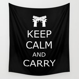 Keep Calm and Carry Wall Tapestry