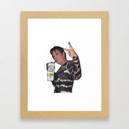 KrisJenner Whiteclaw Meme Framed Art Print