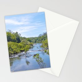 Beautiful tranquil river in the tropics Stationery Cards
