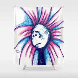 """What's the Point?"" Flowerkid Shower Curtain"