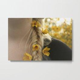 Fishtail & Flowers Metal Print