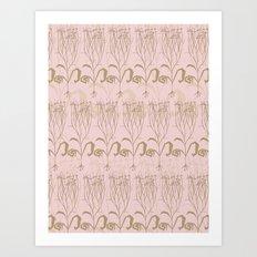 Blush Botanical Pattern Art Print