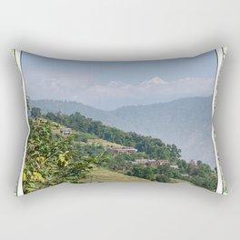 PASTORAL VIEW NEPAL FOOTHILLS Rectangular Pillow