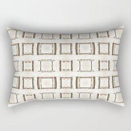 101 - Sepia many frames pattern Rectangular Pillow