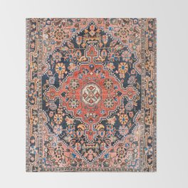 Djosan Poshti West Persian Rug Print Throw Blanket