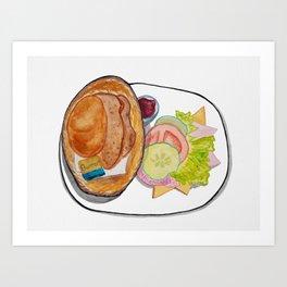German Breakfast Art Print
