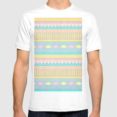 Egyptian II White MEDIUM Mens Fitted Tee