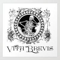 Vita Brevis Art Print