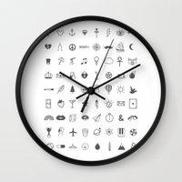 tattoos Wall Clocks featuring Finger Tattoos by Alisha Jensen