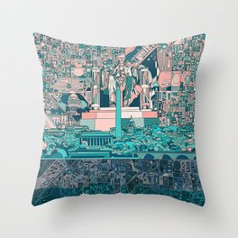 washington dc city skyline Throw Pillow