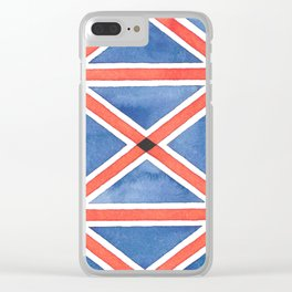 Union Flag Repeated Clear iPhone Case