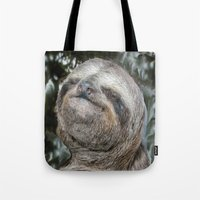 sloth Tote Bags featuring Sloth by Bruce Stanfield