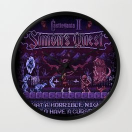 Simon's Vania Castle Quest Wall Clock