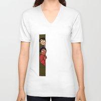 caleb troy V-neck T-shirts featuring Troy & Abed: Dreamatorium by yuzu fruit