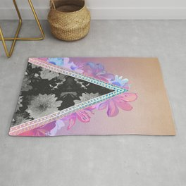 floral triangle Rug