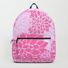 Pink Dahlias / Pink Floral / Pink Flowers Backpack