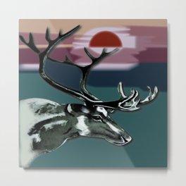 Afternoon Deer Metal Print