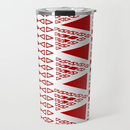 Zig Zag Pattern -  brick red Travel Mug