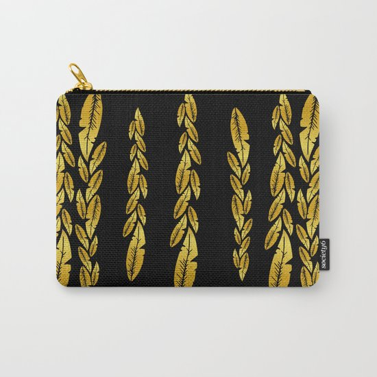 Gold feathers Carry-All Pouch