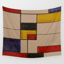 Colorful Fields Wall Tapestry