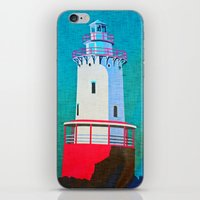 lighthouse iPhone & iPod Skins featuring Lighthouse by Judy Palkimas