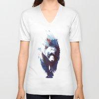 run V-neck T-shirts featuring Death run by Robert Farkas