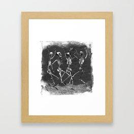skellies dancing Framed Art Print