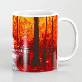 Tardis Art Autumn Coffee Mug