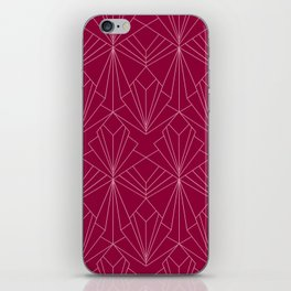 Art Deco in Raspberry Pink iPhone Skin