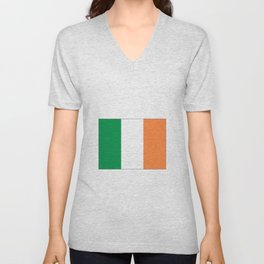 Irish flag -ireland,eire,airlann,irish,gaelic,eriu,celtic,dublin,belfast,joyce,beckett Unisex V-Neck