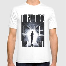 Into The Light  Mens Fitted Tee White MEDIUM