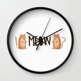 A Tail of Two Kitties Wall Clock