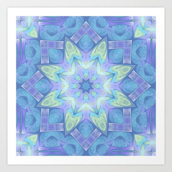 End of Winter Mandala Art Print